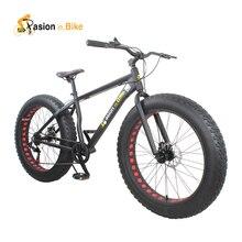 pasion ebike 7 speed Aluminium mountain bike white frame 26*4.0 fat tire bicycle bicicleta bikes