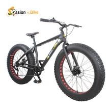 passion ebike 7 speed Aluminium mountain bike white frame 26*4.0 fat tire bicycle bicicleta bikes