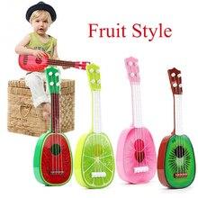 Гавайские гитары укулеле, 32 см, для детей, для обучения, 4 струны, Гавайские гитары, креативные милые мини-фрукты, могут играть на музыкальных инструментах, развивающие игрушки