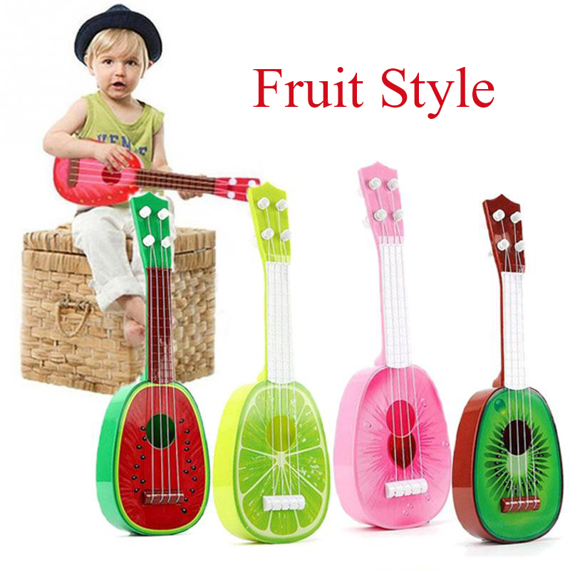 Ukulele 32CM Children Kids Learn Guitar 4 String Ukulele Creative Cute Mini Fruit Can Play Musical Instruments Educational Toys