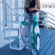 01135d667 Pantalones largos informales a la moda Palazzo Hippie pierna ancha para  mujer talla grande