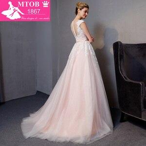 Image 5 - Gorgeous A line Lace Wedding Dresses Elegant Beads Pearls Sexy Backless dresses Luxury Bride Gown vestido de noiva MTOB1812