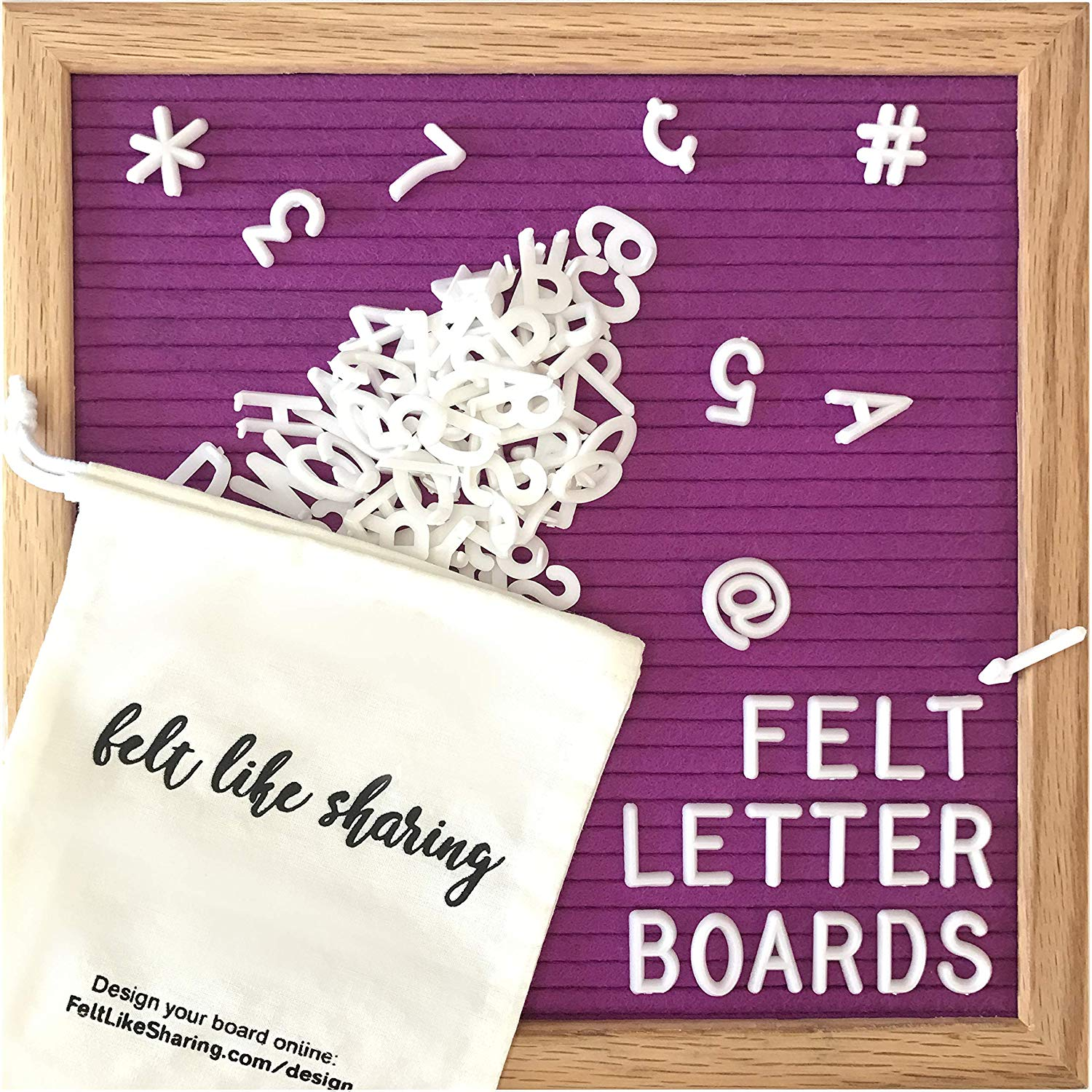 Drawing Board Felt Letter Board Message Board Bulletin Board Home Office Decor Oak Frame White Letters Symbols Numbers Characters Bag Let Our Commodities Go To The World Office & School Supplies
