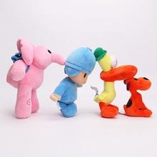 4pcs/lot Newest High Quality Cute Cartoon Animals Little P Youyou, Elle, Bator   stuffed toy doll Pocoyo Toy Pillow
