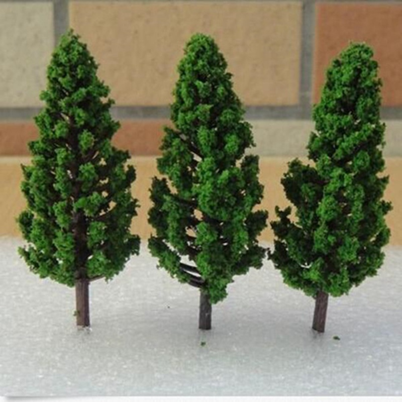 JIMITU 20PCS/Set Plastic Model Trees 68mm For Railroad House Park Street Layout Green Landscape Scene Scenery Mini Trees