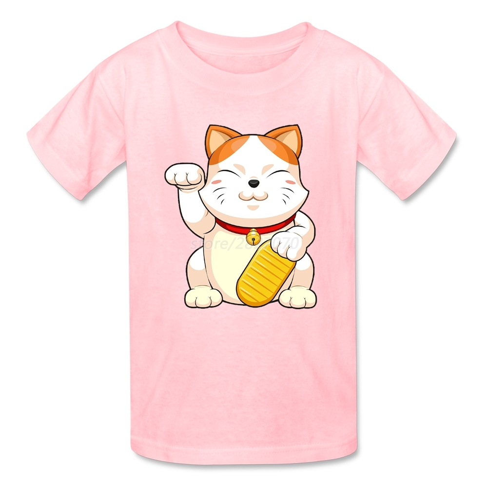 T shirt japanese design - Lovely Japanese Fortune Cat Tee Shirt Cotton Custom Boy T Shirt For Kids Designed One Piece Boy Clothes Camisa