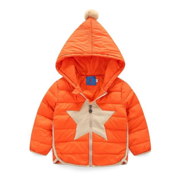 Meninas Do Bebê inverno de Algodão Para Baixo Casacos Quentes Brasão Atividade Crianças infantil Menino Parkas Outwears casaco Desgaste Neve roupas de bebe GH154