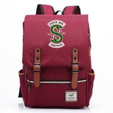 14 16 дюймов ривердейл саутсайд змея школьная сумка рюкзак для женщин рюкзак для мужчин и девочек студентов ноутбук сумка на ремне с пряжкой откидная крышка