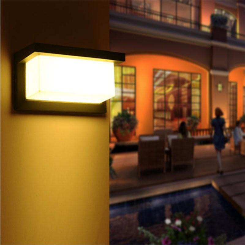 15W Outdoor Lighting Waterproof Modern LED Sconce Wall Lamps IP65 Aluminum Courtyard Garden Corridor Porch Lights AC85 265V