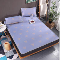 Wholesale 3 Pcs Sheet Set New Summer Ice Cold Feeling Bed Sheet and Pillowcase Home Textile Non slip Bed Sheets Fitted Sheet