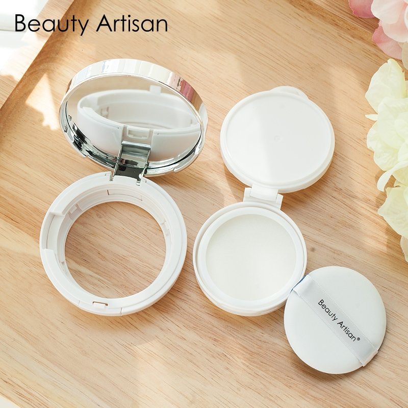 3pcs/Box Makeup Air Cushion Sponge Puff Dry Wet Dual Use Concealer Foundation Flawless Smooth Powder Cosmetic Puff With Mirror candy color calabash shaped cosmetic makeup cotton pads sponge puff pink