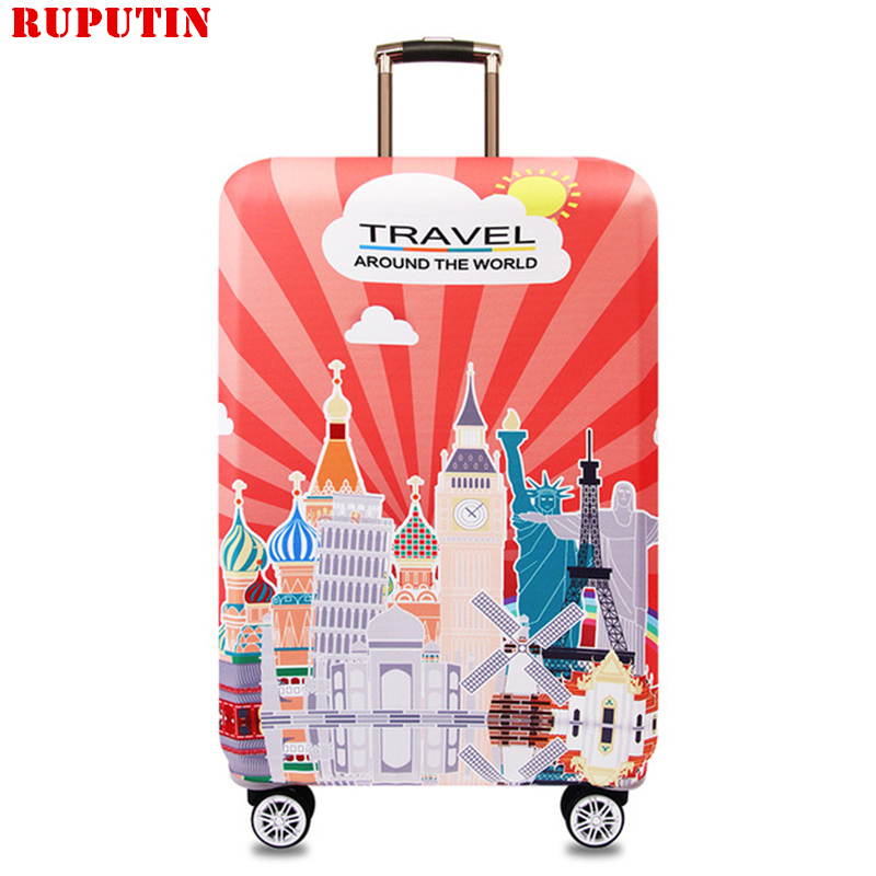 RUPUTIN New Cartoon Suitcase Dust Cover Travel Elasticity Trolley Case Dust Cover Sets Durable Suitcase Protective Trunk Covers