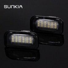 Lumière de plaque d'immatriculation Super blanche 3528 k, 2x Canbus 18LED 6000 SMD, pour Mercedes Benz W203 4D C230 C240 C320 C280 AMG C32