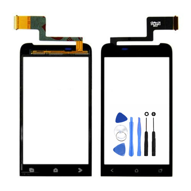 Vannego Front Glass Window Touch Panel For HTC One V T320e G24 Touch Screen Digitizer With Sensor Cable Replacement Parts