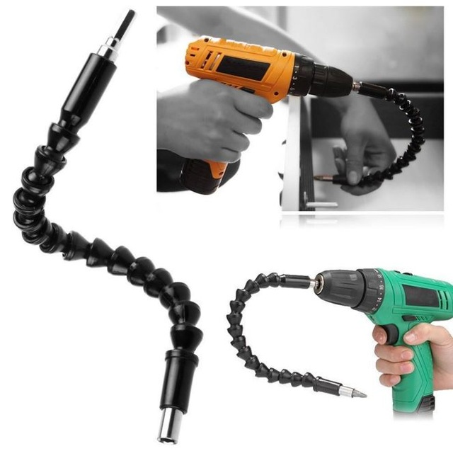 295mm Electronics Drill Black Flexible Shaft Bits Extention Screwdriver Bit Holder Connect Link Drill Chuck Adapter