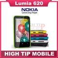 """Lumia 620 original desbloqueado nokia 620 janelas telefone móvel 3.8 """"dual-core rom 8 gb câmera de 5mp wi-fi gps remodelado freeshipping"""