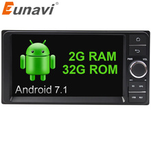 "Eunavi Quad core 7"" 2 din android 7.1 Car Radio GPS Navi for Toyota Hilux VIOS Old Camry Prado RAV4 Prado 2003-2008 autoradio"