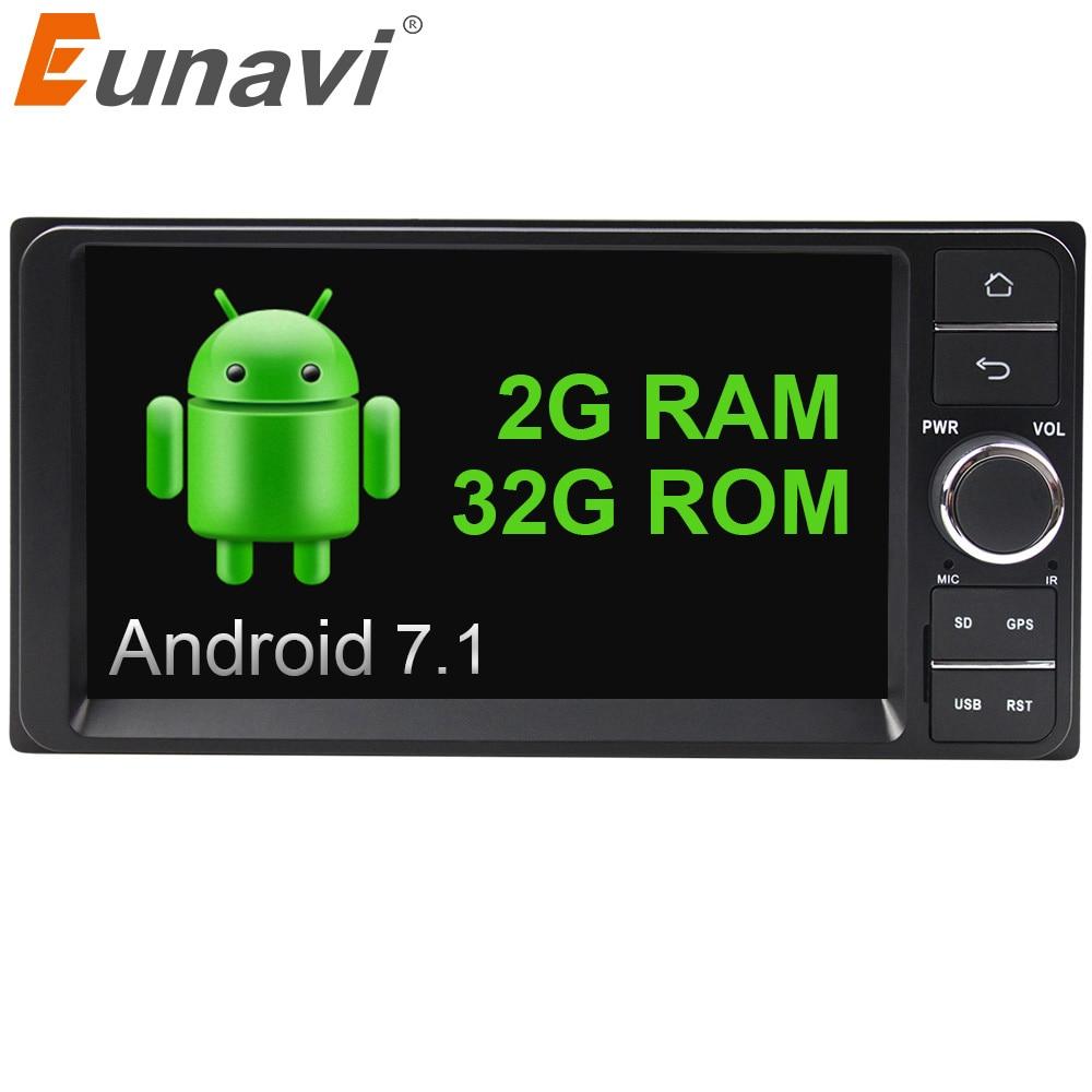 Eunavi Quad core 7 2 din android 7 1 font b Car b font font b