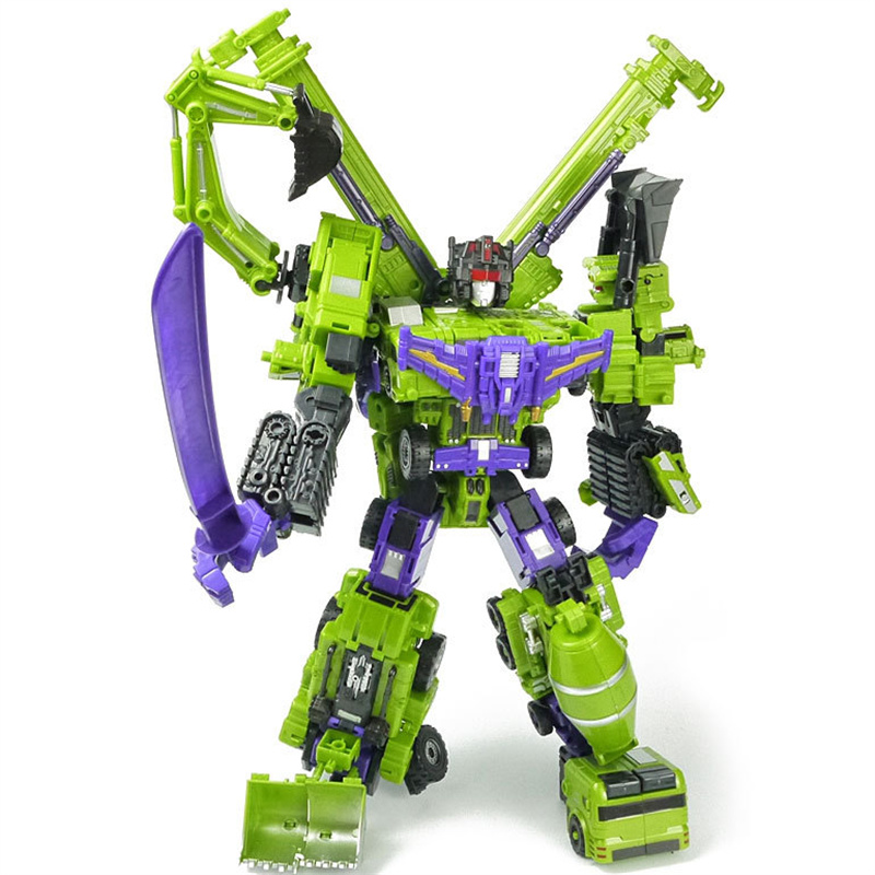 6 in 1 Boy Toy Devastator Combine Transformation Action Classic Figures Robot Model Constructions Anime Engineering Truck Gift viruses cell transformation and cancer 5
