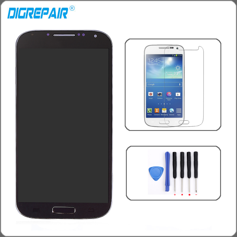 5 0 inch Blue For Samsung Galaxy S4 i9500 LCD Assembly Touch Screen Display Digitizer with