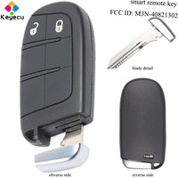KEYECU Replacement Smart Remote Key With 2 Buttons & 433MHz & ID46 Chip FOB for Dodge/ Chrysler/ Fiat FCC ID: M3N 40821302