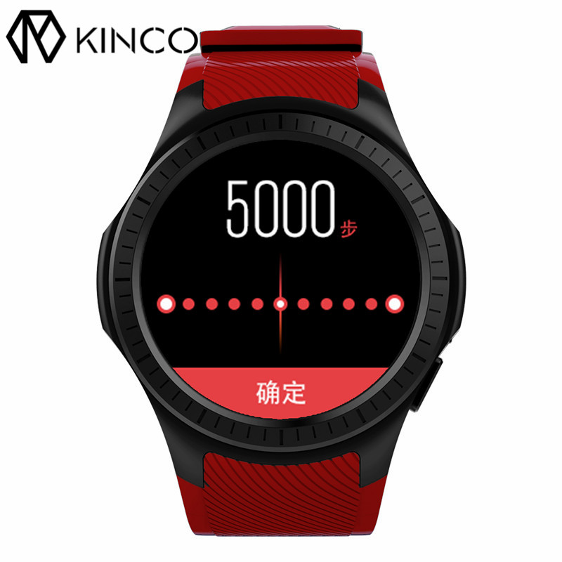 KINCO MT2503 1.3inch 64M+128M SIM GPS Blood Pressure Heart Rate Monitor Smart Phone Watch Music Pedometer Watches for IOS/Anroid kinco mt6572a 512m 4g gps ips 1 3 inch android 4 4 smart phone watch heart rate monitor steps anti lost bracelet for ios android