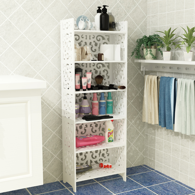 Storage rack bathroom basin rack corner shelf wrought iron floor ...