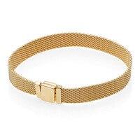 Authentic 925 Silver Bracelets for Women Shine Reflexions Bracelet fit Pandora Bead Charm Pendant Girl Birthday Gift