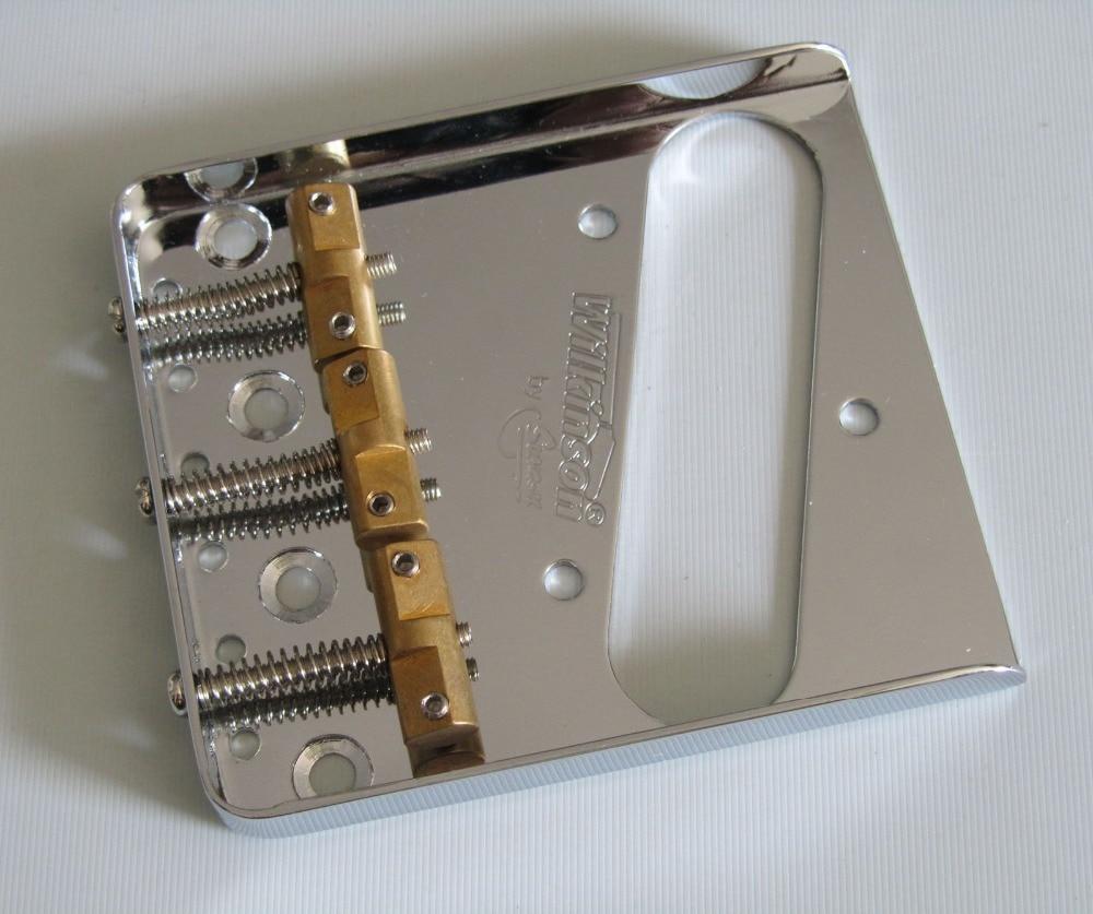 Wilkinson Chrome WTB Ashtray Vintage Style Compensated TL Guitar Bridge