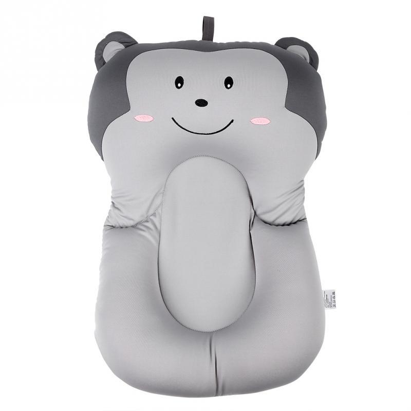 Мягкая подушка для ванны для новорожденного ребенка, плавающая Подушка с воздушной подушкой, подушка для купания малыша, подушка для душа, пищевая пена - Цвет: Grey Monkey