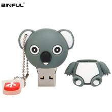 Usb Flash Drive 64gb 32gb Cute Cartoon Pink Pig Koala Pendrive 2.0 High Speed memoria usb Silicone Memory Stick Gift