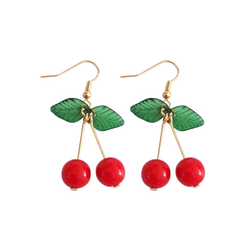 kshmir Sweet fruit fresh cherry eardrop female fashion youth beautiful girl students earrings