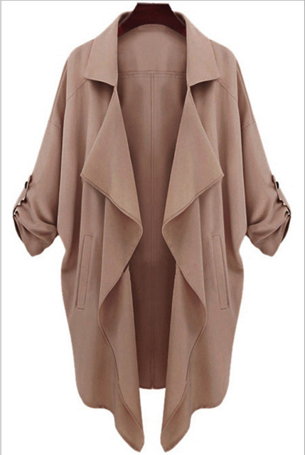 Spring and summer women's long section of the Korean loose thin coat tide Ms. Spring and Autumn thin coat length women dress