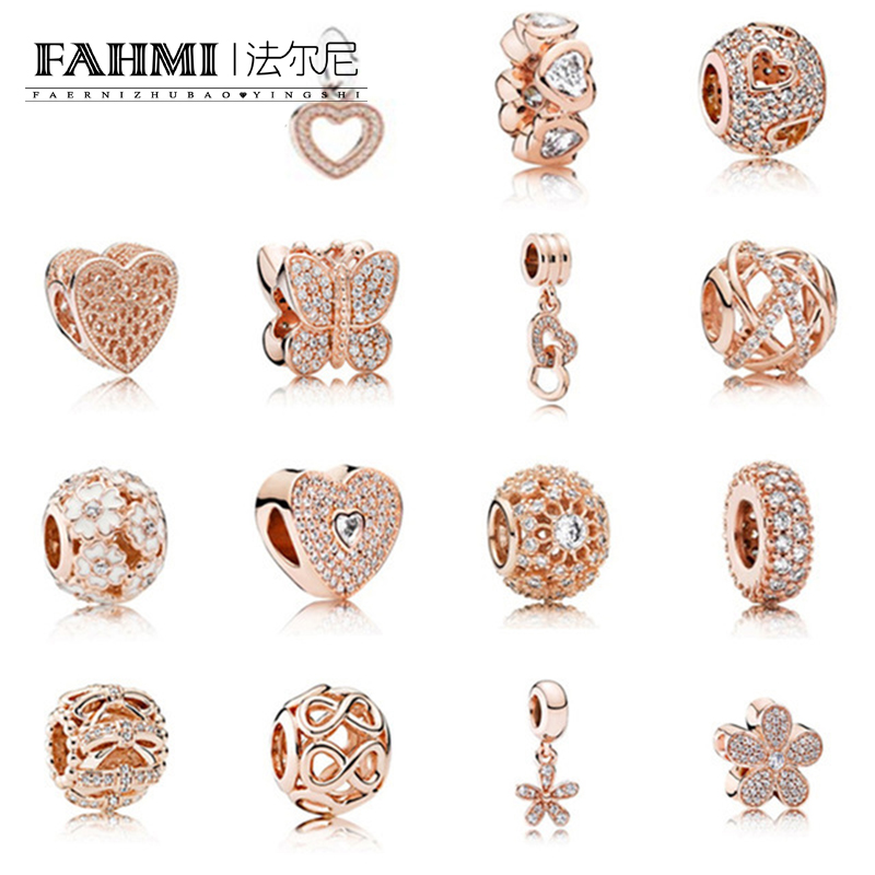 FAHMI Fashion 925 Rose Gold Sterling Silver Beads Charm Embrace With Cubic Zirconia Fit E series Bracelet Diy Jewelry Free MailFAHMI Fashion 925 Rose Gold Sterling Silver Beads Charm Embrace With Cubic Zirconia Fit E series Bracelet Diy Jewelry Free Mail