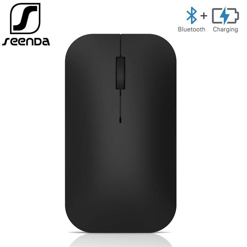 SeenDa Brand Bluetooth Wireless Mouse Rechargeable Bluetooth 3.0 Mouse for Tablet Laptop Cellphone Android Windows Silent Mice цена