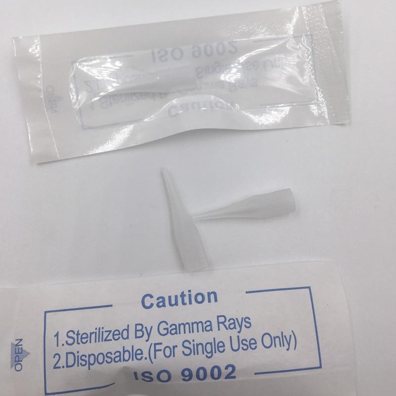 Free shipping Disposable 500pcs 1RL Permanent Makeup Giant Sun Needle Caps 5mm Diameter 2 5 Length
