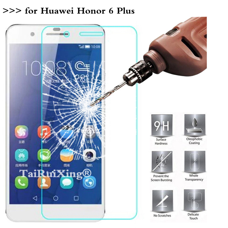9H 2.5D 0.26 mm Tempered Glass Screen Protector For Huawei Honor 6 Plus Protective Film For Huawei Honor 6 Plus
