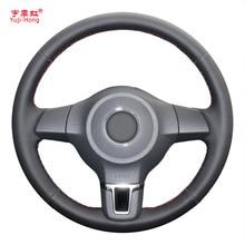 Yuji-Hong искусственная кожа Автомобильный руль чехол для Volkswagen VW Golf 6 Santana Jetta Polo камера Bora Touran ручной работы