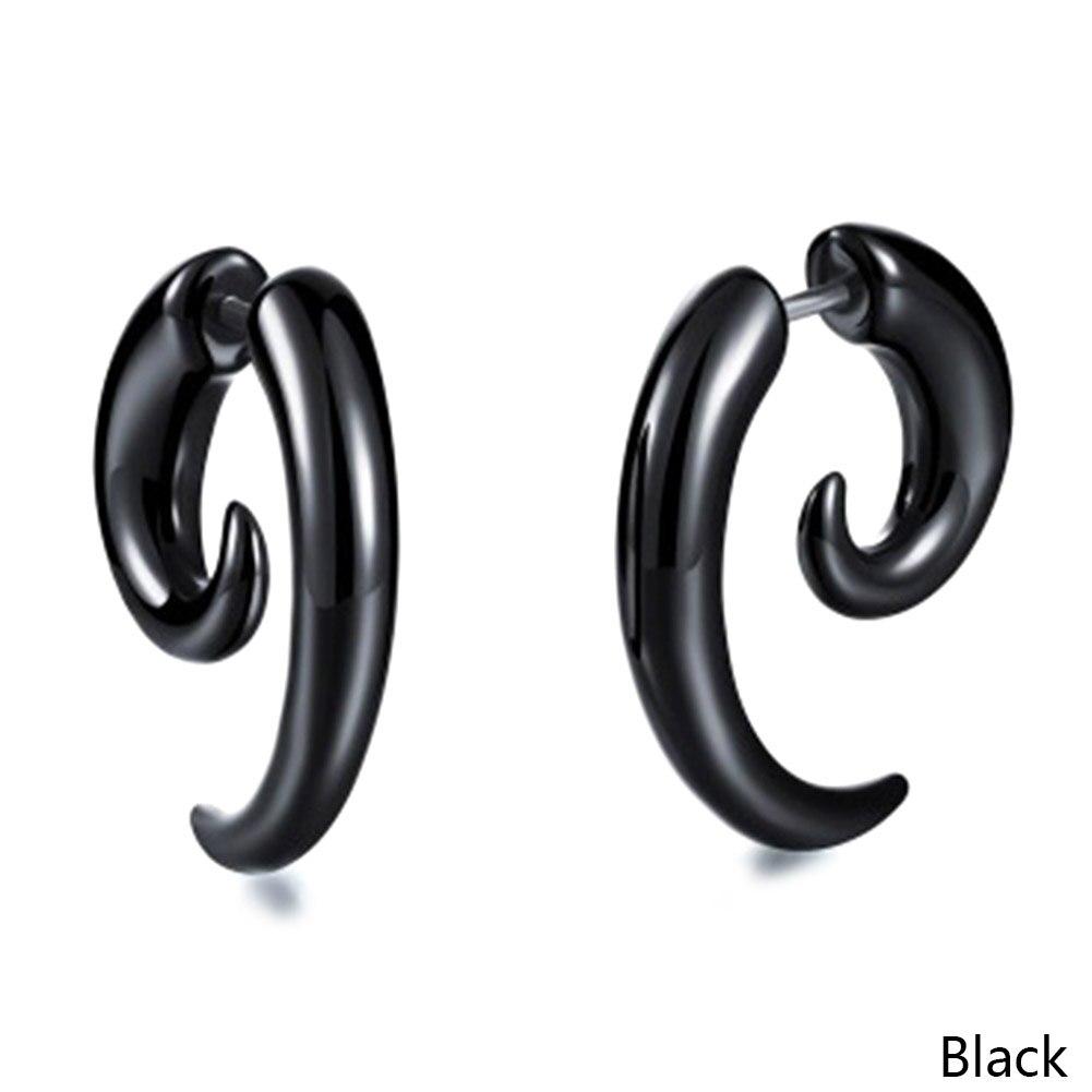 New Design Personality Punk Acrylic Black Snail Shape Earrings For For Men / Women Jewelry bijoux