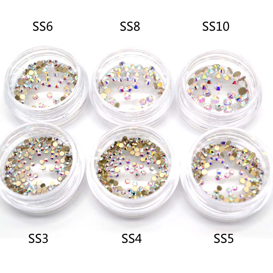 1 Bottle Glass AB Rhinestones for Nails Art Decorations Crystals Gems Nail Rhinestones Decor for Nails Manicure Stones MJZ2030 100pcs 15 styles manicure nail stickers adhesive rhinestones for nails supplies accessoires 3d nail art decorations charms gems