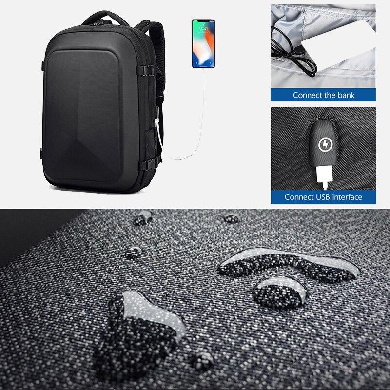 OZUKO multifonction étanche 15.6 pouces sacs à dos d'ordinateur portable homme USB charge grande capacité rucksaké mode mâle Mochila 2019 nouveau - 4