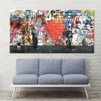 Xdr413 1 PCS Banksy Art Love Is The Answer Wall Art Graffiti Einstein Holding A Sign