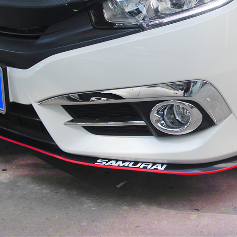 2.5m Auto Protezione Paraurti Anteriore Lip Splitter autoadesivi del Corpo Autoadesivo Dell'automobile Kit Spoiler Imbottiture e Paraurti di Gomma di colore del Doppio Car Styling Auto accessorie