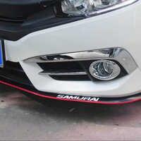 2.5m samochód Protector przedni zderzak wargi Splitter samochód naklejki ciała zestaw Spoiler zderzaki gumowe podwójne kolor Car Styling akcesoria samochodowe