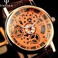 Relógio Esqueleto Homens Wathes YAZOLE Top Famosa Marca De Luxo Novo 2016 relógio de Pulso Masculino Relógio de Quartzo Relógio de Pulso de Quartzo Negócio-relógio