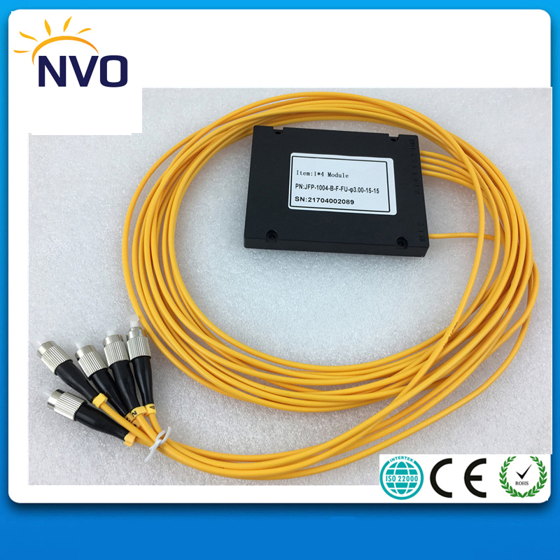 1x4 ABS Box PLC Splitter Module 1*4 FC/UPC Fiber Optical PLC Splitter