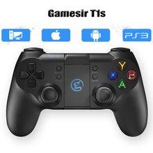 GameSir T1s Bluetooth Wireless Gaming Controller Gamepad Joystick Joypad para Android/Windows PC/IOS/VR/TV caixa/PS3/Smart Telefone