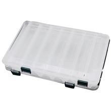27*18*4,7 см двухсторонняя высокопрочная прозрачная видимая пластиковая рыболовные приманки для наружного использования коробка 14 отсеков рыболовные снасти