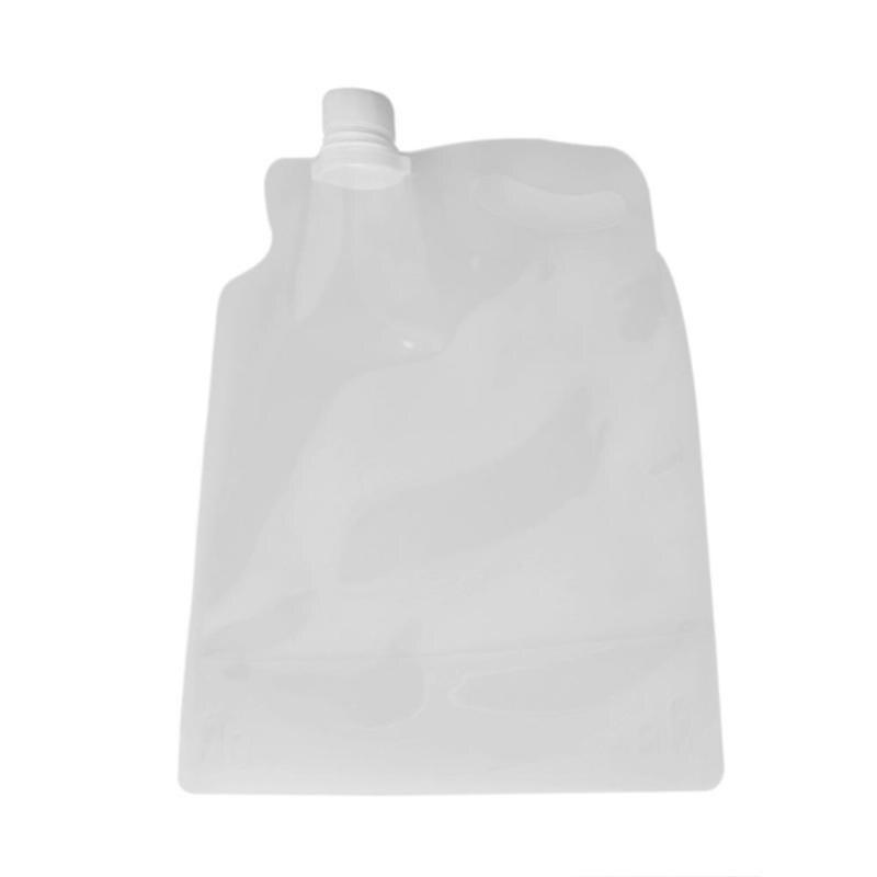 Adaptable 2l Transparante Inklapbare Water Bag Draagbare 2l Opvouwbare Drinkwater Bag Voor Outdoor Camping Wandelen Paardrijden Opslag Accessoire