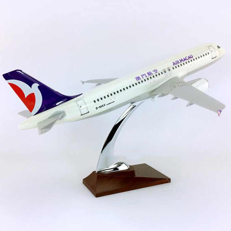 36 ซม.1:100 Scale Airbus A320-200 รุ่น Air Macau Airlines ฐานเครื่องบินเครื่องบินสะสม Cisplay ของเล่นคอลเลกชัน